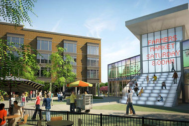 The Washington Park Homes redevelopment will include 16,800 square feet of retail.