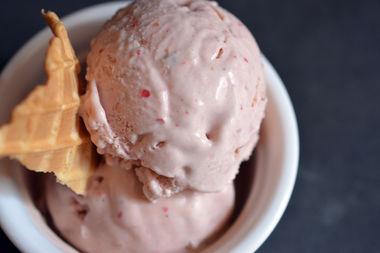 Bliss Street Creamery's strawberry peppercorn ice cream.