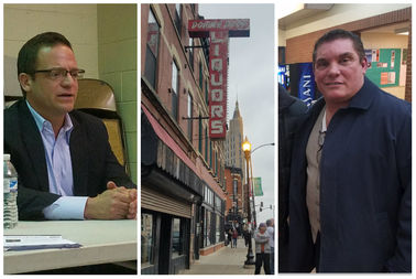 Ald. Joe Moreno (1st), Double Door and building owner Brian Strauss.