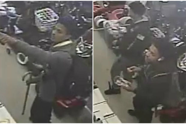 The teens played a game of keep away with the clerk before shoving her as they fled, police said.