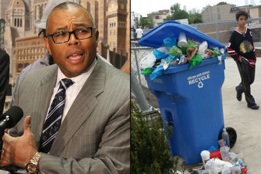 Ald. Howard Brookins (21st) wants city sanitation officials to find better ways of keeping rats from gnawing through plastic trash cans, he said.