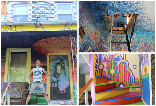 Eli Albert, 29, runs a colorful artist commune in Logan Square.