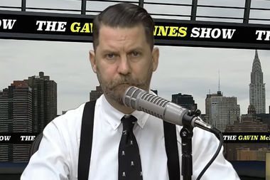Conservative pundit Gavin McInnes is no longer welcome at DePaul University.