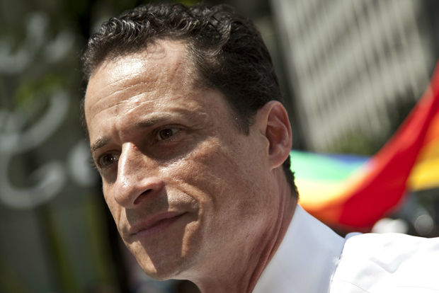 U.S. congressman Anthony Weiner attends pride parade on June 28, 2009, in New York City.