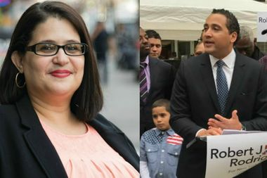 Diana Ayala and Assemblyman Robert Rodriquez have split Bronx political endorsements in the race for City Council Speaker Melissa Mark-Viverito's seat.