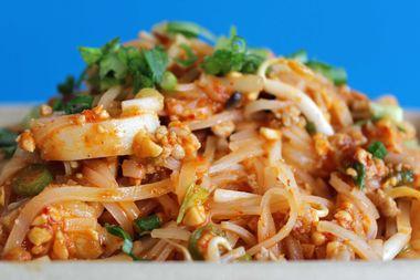 The Tom Yum Noodles from Khao Man Gai NY.