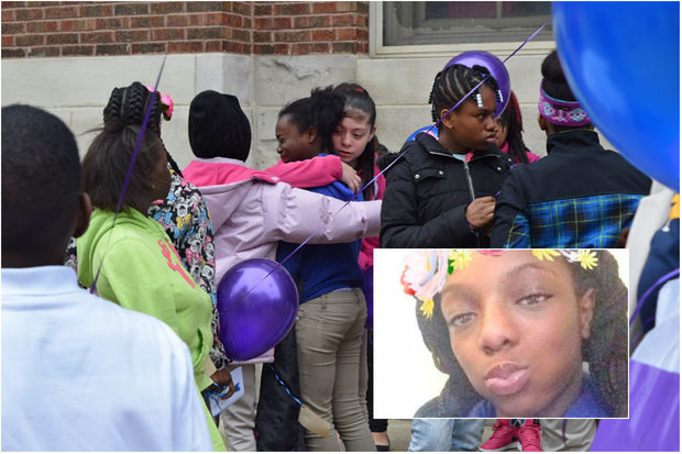 Tianna Hollinside, 13, was remembered and celebrated by her school and the Rogers Park community during a memorial Friday morning.