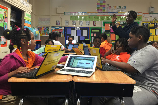 BROWNSVILLE — Look out Silicon Valley, you might have some competition.    A group of fourth and fifth graders at Brooklyn Landmark Elementary School are getting an early start in the world of computer programming as part of a class teaching the basics og coding, app development, and entrepreneurship.