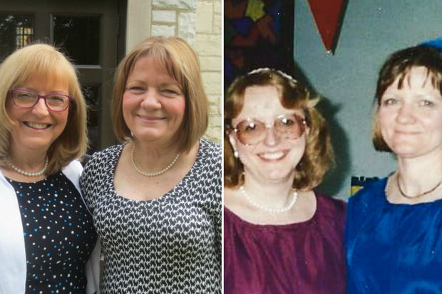 Kathy Florence and Diane Jagielnik are retiring after more than 40 years of teaching at St. Bruno School, 4839 S. Harding Ave.