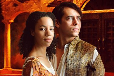 Emma Ladji stars as Juliet and Nate Santana as Romeo in the Chicago Shakespeare in the Parks production of