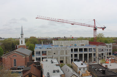 Still under construction, the Holtschneider Center for Music and Performance is expected to be completed in a year.