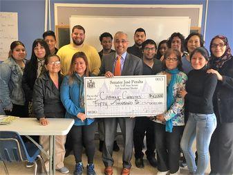 Sen. Jose Peralta, who gave Catholic Charities $50,000 to provide ESL classes.