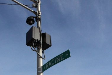 A police cameras installed at Sunnyside and Racine, by Truman College