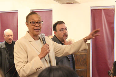 Ald. Leslie Hairston (5th) delayed a plan to rezone 71st Street after a divided meeting with residents on Tuesday.