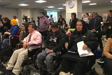 Disabled riders were cut short who'd come out to testify about issues with Access-a-Ride were cut off at a public hearing by the MTA Wednesday.