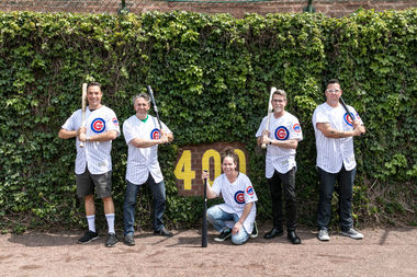 Chicago chefs Jeff Mauro (from left), Matthias Merges, Stephanie Izard, Rick Bayless and Graham Elliot will take part in a chef series at Wrigley Field.