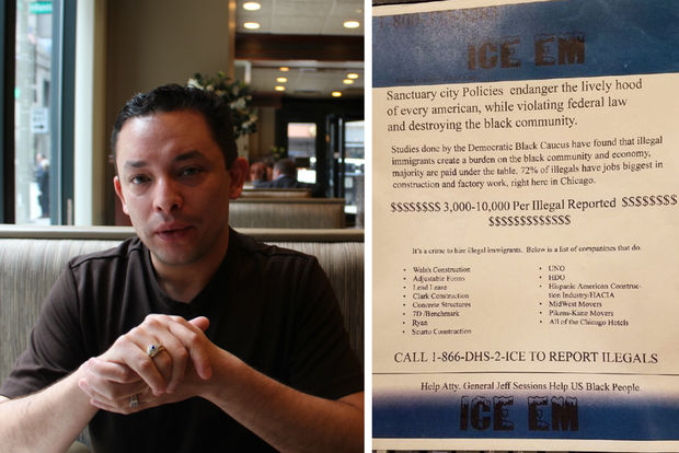 Ald. Raymond Lopez (15th) is slamming a flyer asking black Chicagoans to report suspected undocumented residents to immigration agents.