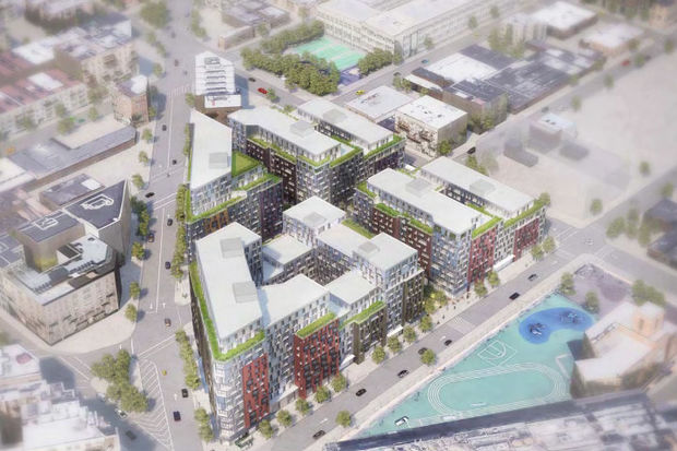 The development would include some affordable housing and public green space.