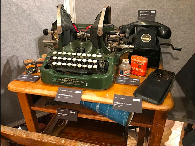 Chicago resident Andrew Clayman's extensive work researching and collecting items from the city's manufacturing past are now on display at the Edgewater Historical Society.