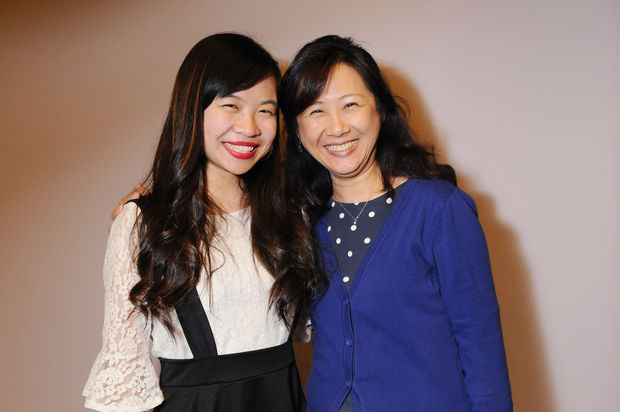 Sophia Qu with her biology teacher, Dr. Meng-Ping Tu, at her scholarship awards dinner last week.