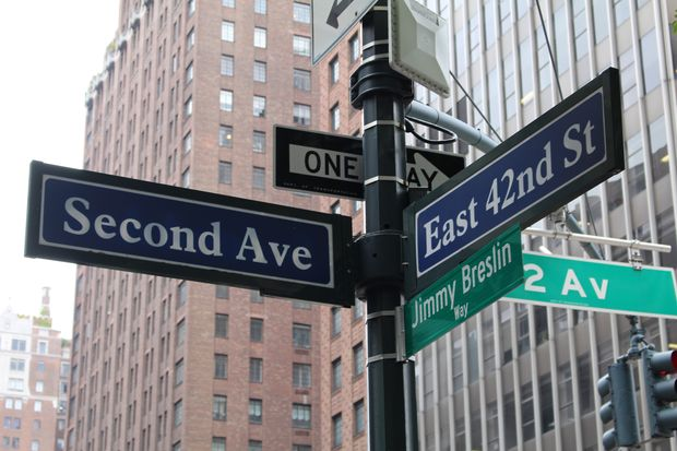 East 42nd Street and Second Avenue was temporarily renamed for the iconic newspaper columnist.