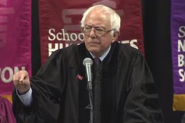 Bernie Sanders addressed Brooklyn College's Commencement at Barclays Center on May 30, 2017.