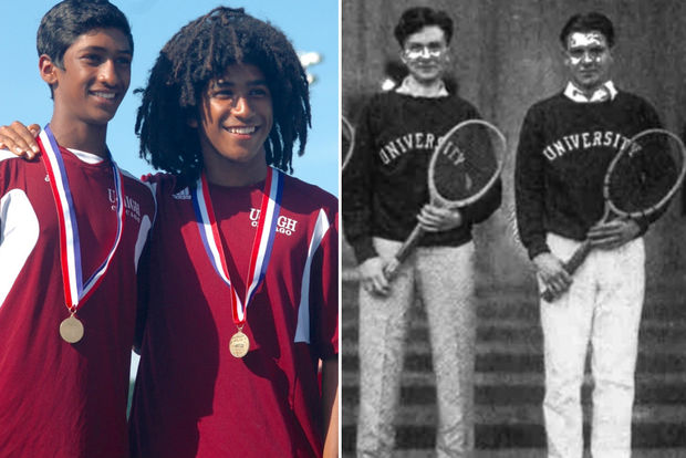 The U-High doubles team of Sam Fleming (junior) and Arjun Asokumar (freshman) won the IHSA 1A Doubles State Championship at Hersey High School in Arlington Heights. The last U-High doubles tennis state championship was in 1927 by Don Goodwillie and Paul Stagg – son of Amos Alonzo Stagg of University of Chicago fame.
