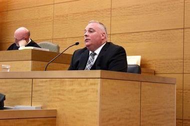 Collision Investigation Squad Detective Edward Behringer testified in a Tuesday hearing on the Matthew von Ohlen hit-and-run case.
