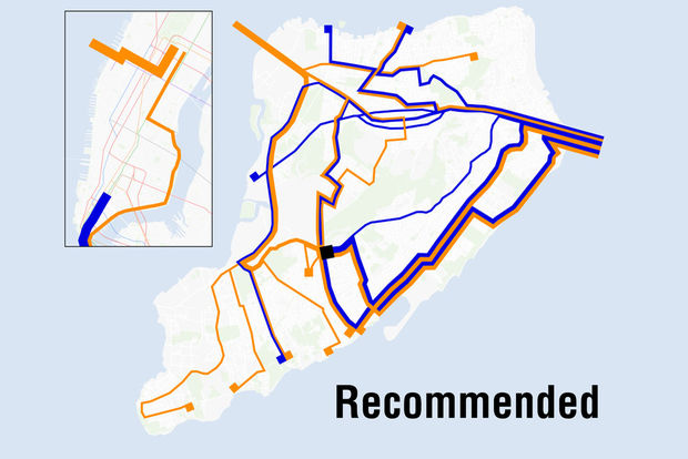 Express Bus Nyc Map.Staten Island Express Bus Route Redesign Could Cut 40 Minutes From