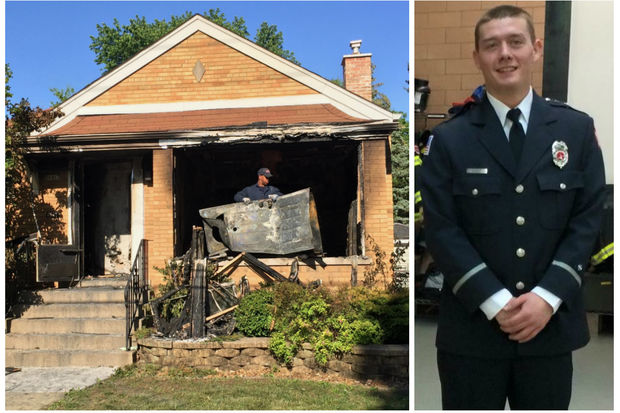 Chicago firefighters found Robert Spoon, 28, shot in the basement of a burning house Thursday afternoon in Mount Greenwood. Spoon later died at Advocate Christ Hospital, according to police.
