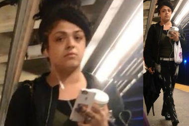 Police believe this woman maced and a attacked an L train rider following an argument.
