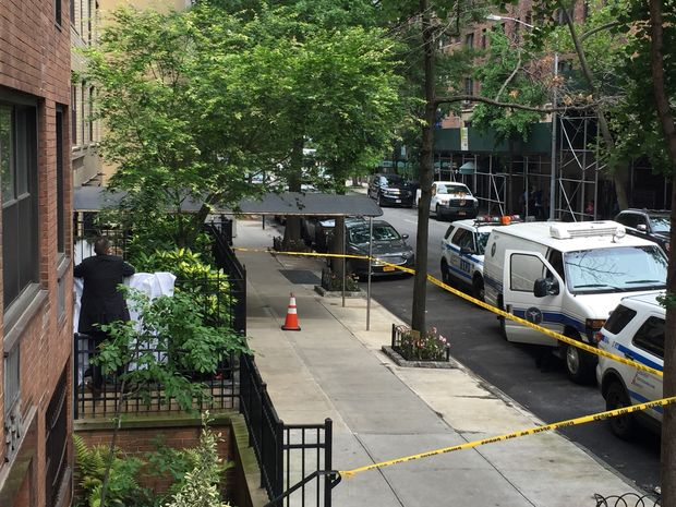 The 71-year-old jumped from the fifth floor of a building on East 50th Street.
