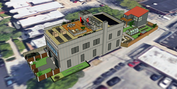 Jim Andrews' and Dean Vance's vision for the historic firehouse at 1723 W. Greenleaf Ave. in Rogers Park.