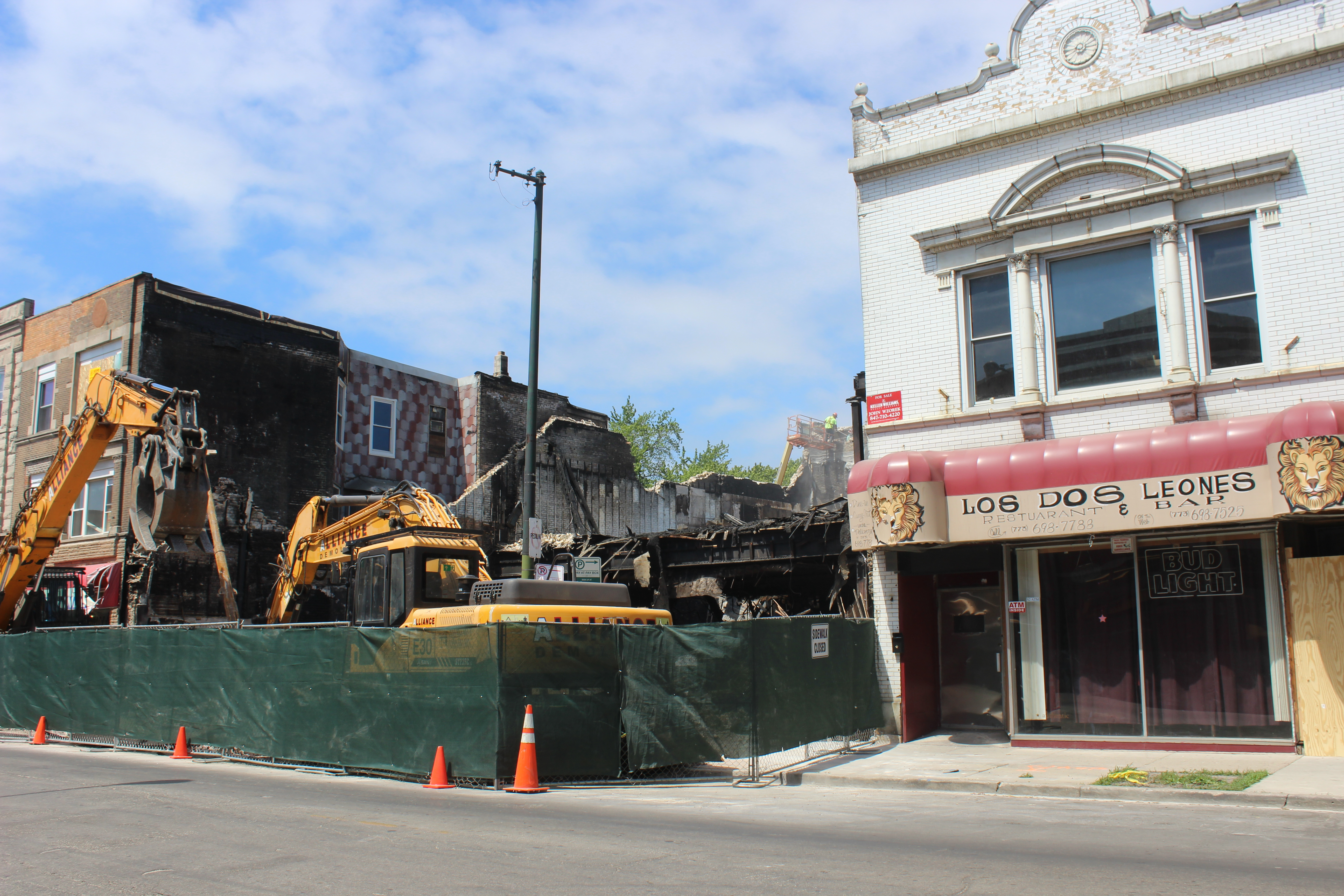 Furniture Store Destroyed In Fire Torn Down As Investigation Continues Avondale Chicago
