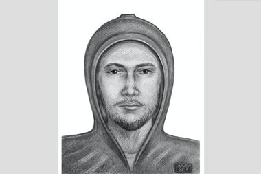 The suspect was described as26 to 28 years old, standing 5-foot-9to 5-foot-11, with a slim build, a beard, andlast seen wearing a gray hoodie, gray sweatpants and black sneakers.
