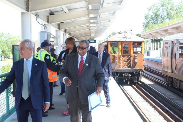 """The CTA on Tuesday celebrated the 125thanniversary of the """"L"""" in Chicago."""