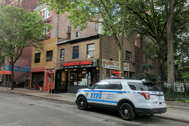 He was stabbed inside Washington Square Diner on West Fourth Street, officials said.