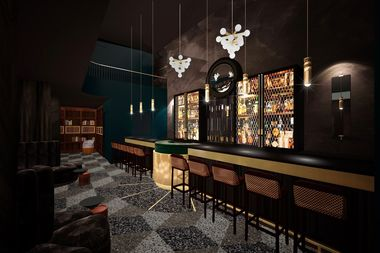 Renderings of the new Chicago Magic Lounge at 5050 N. Clark St.