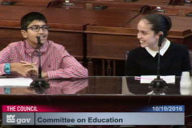 Neil Sarkar and his schoolmate Katerina Corr testified in support of GSA at every middle and high school in October 2016.