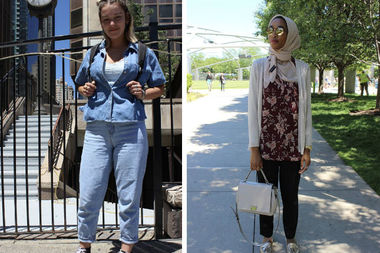 With temps finally hitting summery highs, Chicagoans are wearing their warm-weather best around town.
