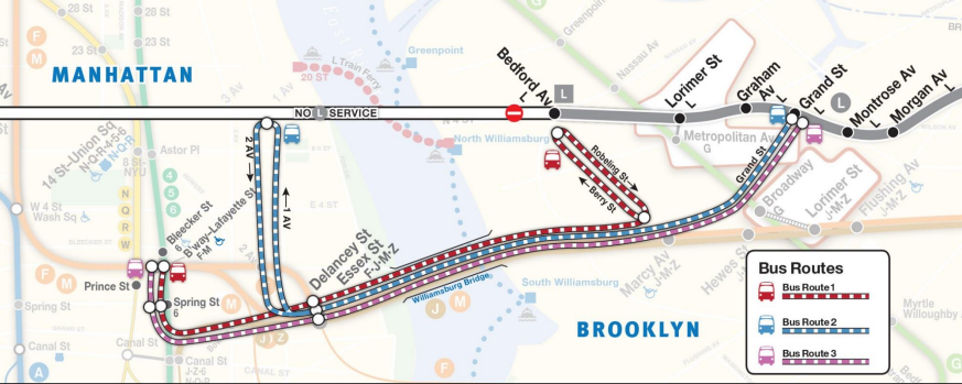L Train Map MAPS: Here's What Your Commute Might Look Like During L Train  L Train Map