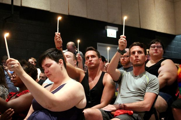 The Center on Halsted hosted a vigil Monday to honor the victims killed in the Pulse nightclub shooting in Orlando one year ago, June 12, 2016.
