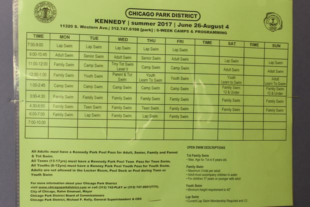 Kennedy Park Pool Opens Friday Here 39 S How To Get Your Pool Pass Morgan Park Chicago Dnainfo