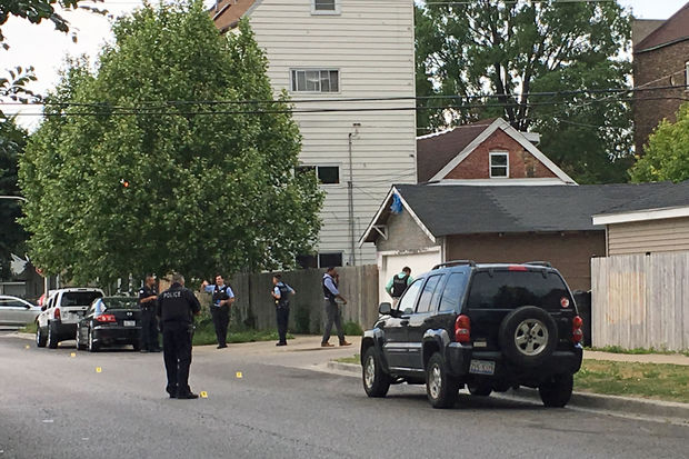 Police said a 24-year-old woman was shot in her abdomen in the 2100 block of West 33rd Street.