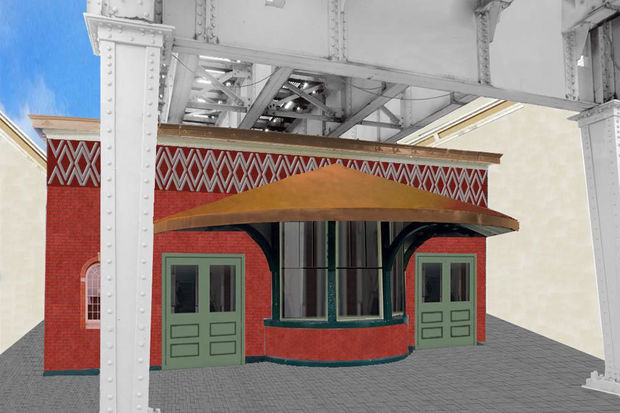 U. of C. is planning an information kiosk and business incubator for the former train station.