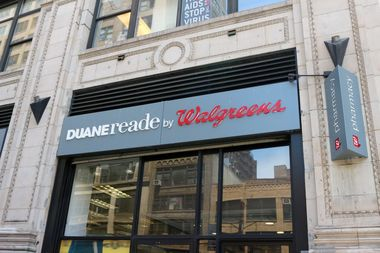The Duane Reade at 322 Eighth Ave., at the corner of West 26th Street.