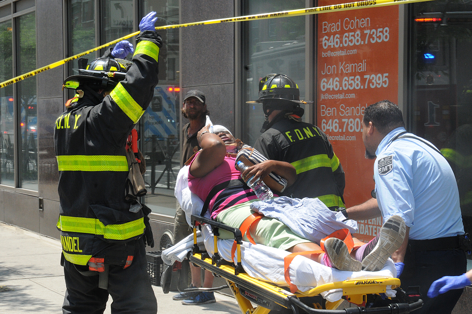 New York Fire Department: Vehicle jumps curb in Hell's Kitchen, 10 injured