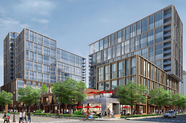Developer The John Buck Co. plans to build 586 apartments on the former H2O Plus site at 845 W. Madison St. in the West Loop.