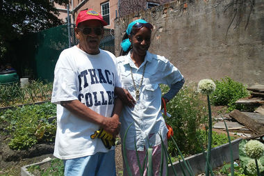 Anthony Columbel, 76, is a long-time gardener at the Ashford Street Abundance Garden in East New York.