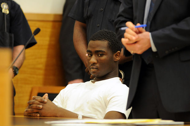 Justin Murrell, 15, was charged with attempted murder for dragging NYPD Officer Dalsh Veve, officials said.